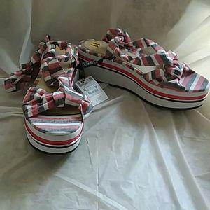 HP🎉 Zara platform tie sandals 11 nwt